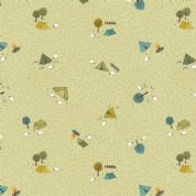 Lewis & Irene - Littondale - 6526 - Camping on Pale Green - A359.2 - Cotton Fabric